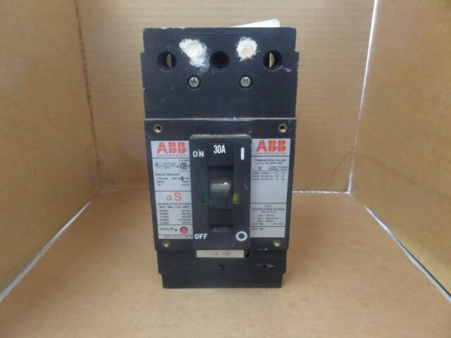 ABB Type ES Circuit Breaker UXAB 727131 R 107 30A 600V 3P Used