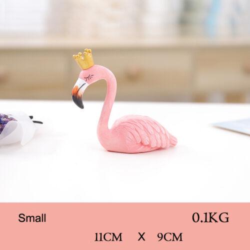 Home Resin Flamingo Decoration Ornament Pink Girls  Room Desktop Statue Decals