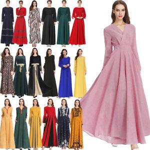 Muslim-Kaftan-Vintage-Women-Islamic-Maxi-Dress-Jilbab-Cocktail-Party-Long-Robe