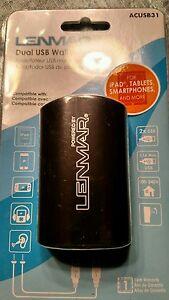 LENMAR Dual USB Wall Adapter ACUSB31