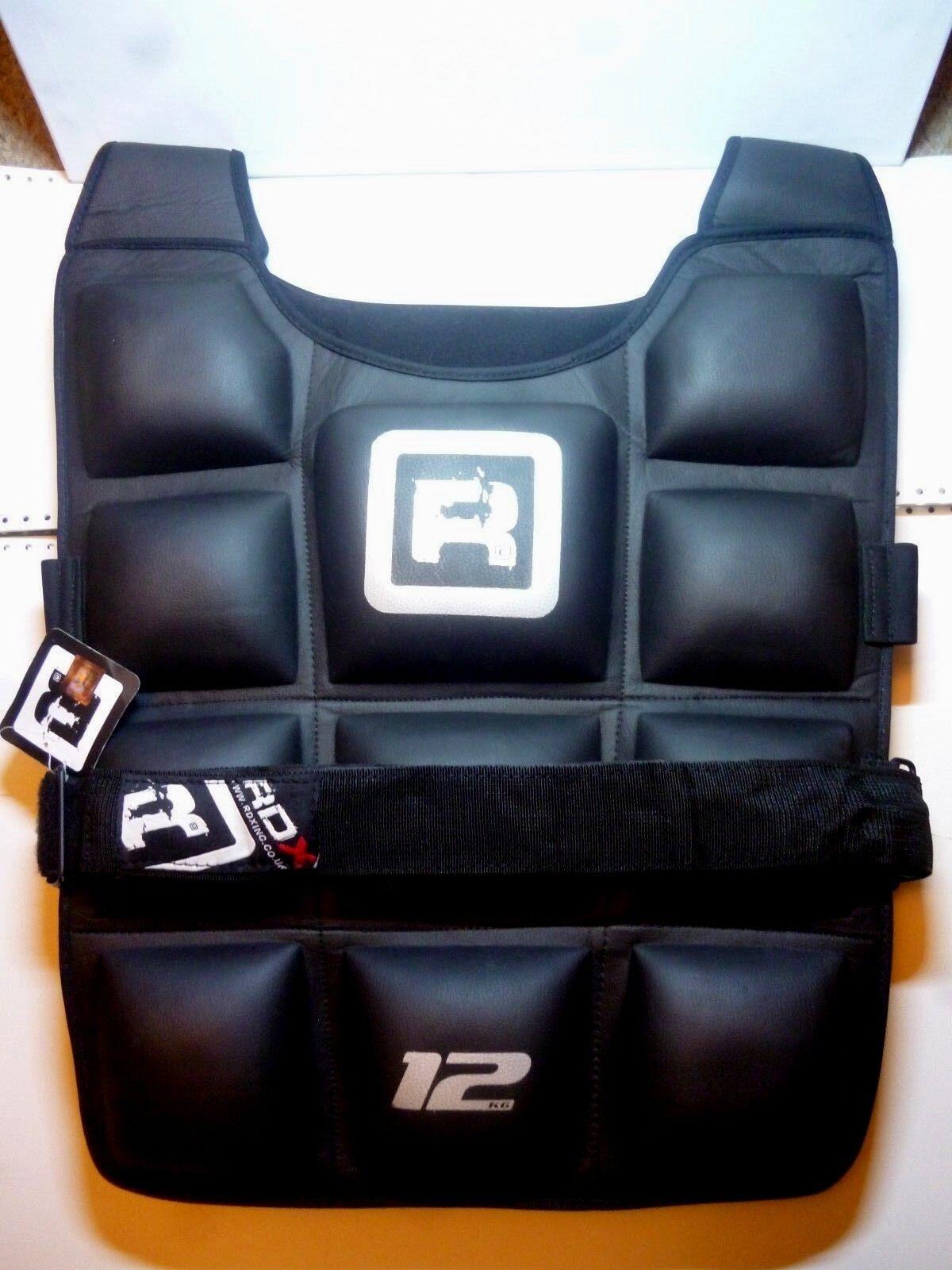 Authentic RDX Gel Flex MMA Formazione Professionale 12KG Fitness corpo prossoezione