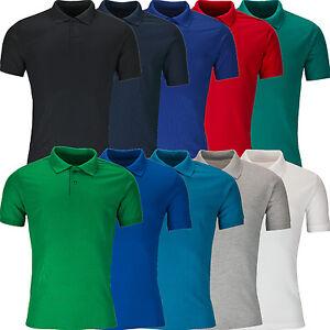 New-Mens-Polo-Shirt-Short-Sleeve-Plain-Pique-Top-Designer-Style-Fit-T-Shirt-Tee