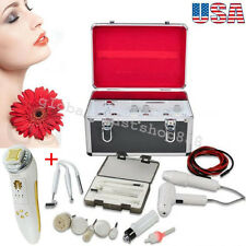 USA 5 in1 High Frequency Galvanic Facial Care Brush Vacuum Spray Beauty +Gift CE