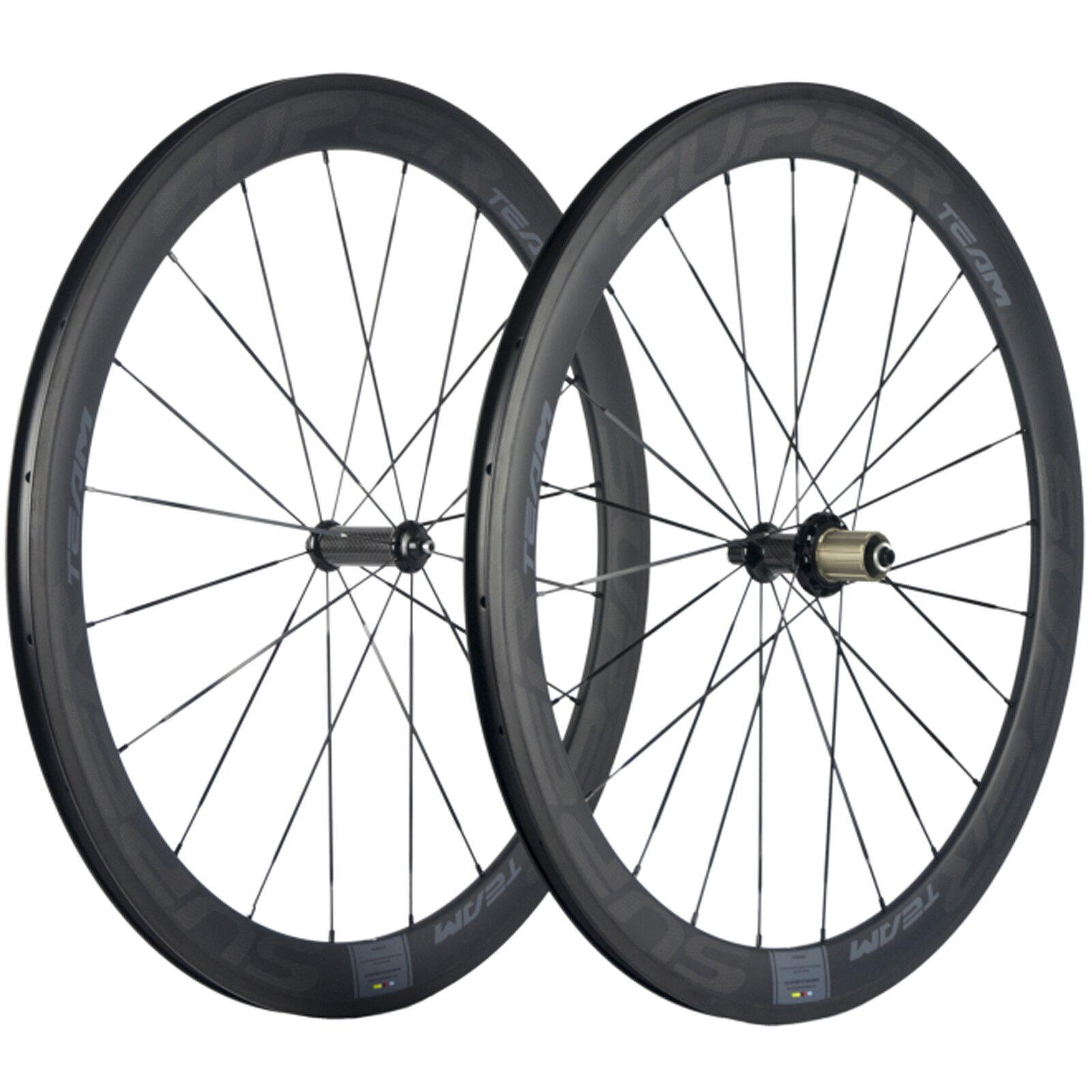 Superteam 50mm Depth U shape 25mm Width Carbon Wheelset Clincher  Road Bike R36  your satisfaction is our target