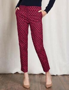 Boden-Hose-Richmond-7-8-Pants-Taschen-Stretch-Muster-UK-6-EU-34-Kurzgroesse