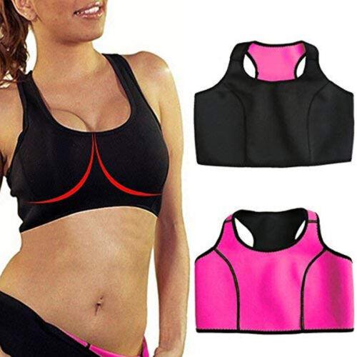 US Yoga Sports Bras Gym Activewear Workout Bra Neoprene Sweat Sauna Tops Fitness