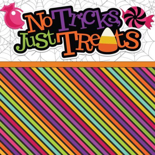 NO TRICKS JUST TREATS EZ Layout 2414 NPM 2 Premade Scrapbook Pages