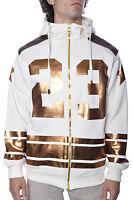 Faux Leather 23 Shine Metallic Plus Size Urban Fleece Hip Hop Mens Fashion Hoody