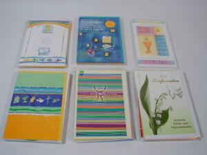 50-Karten-zur-Konfirmation-Glueckwuenschkarten-Einzelkarten-neuwertig
