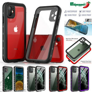 For iPhone 11 12 Pro Max Case Waterproof Dirt Shockproof Cover Screen Protector