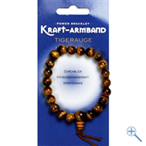 Tigerauge Edelstein-Kraft-Armband