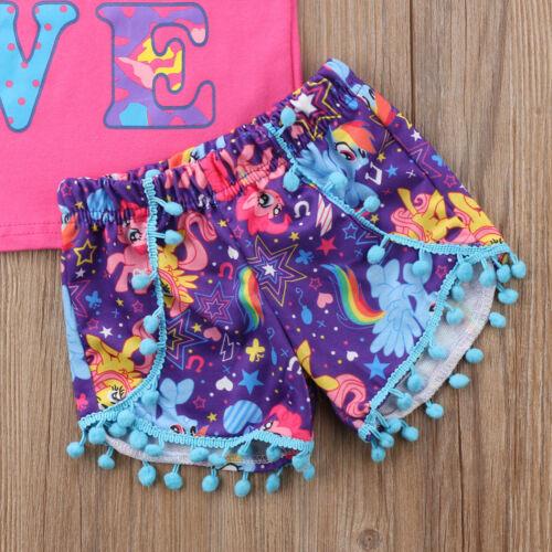 3yrs Located In Australia Girls Unicorn Shorts,Tee /& Headband Set  Sz 9m