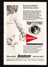 3w1534/ Alte Reklame von 1960 - CONSTRUCTA Waschmaschinen - Lintorf