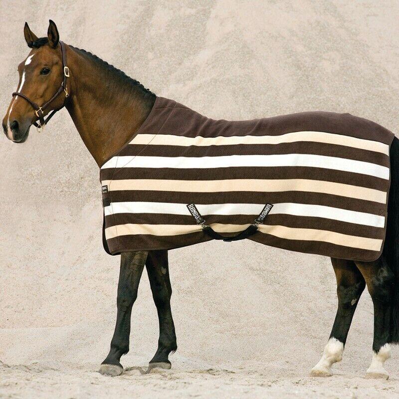 Horseware Rambo Deluxe Fleece - Witney Stripe Chocolate - Abschwitzdecke