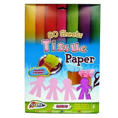 Assorted Colours A4 Crepe Paper 14 Sheets