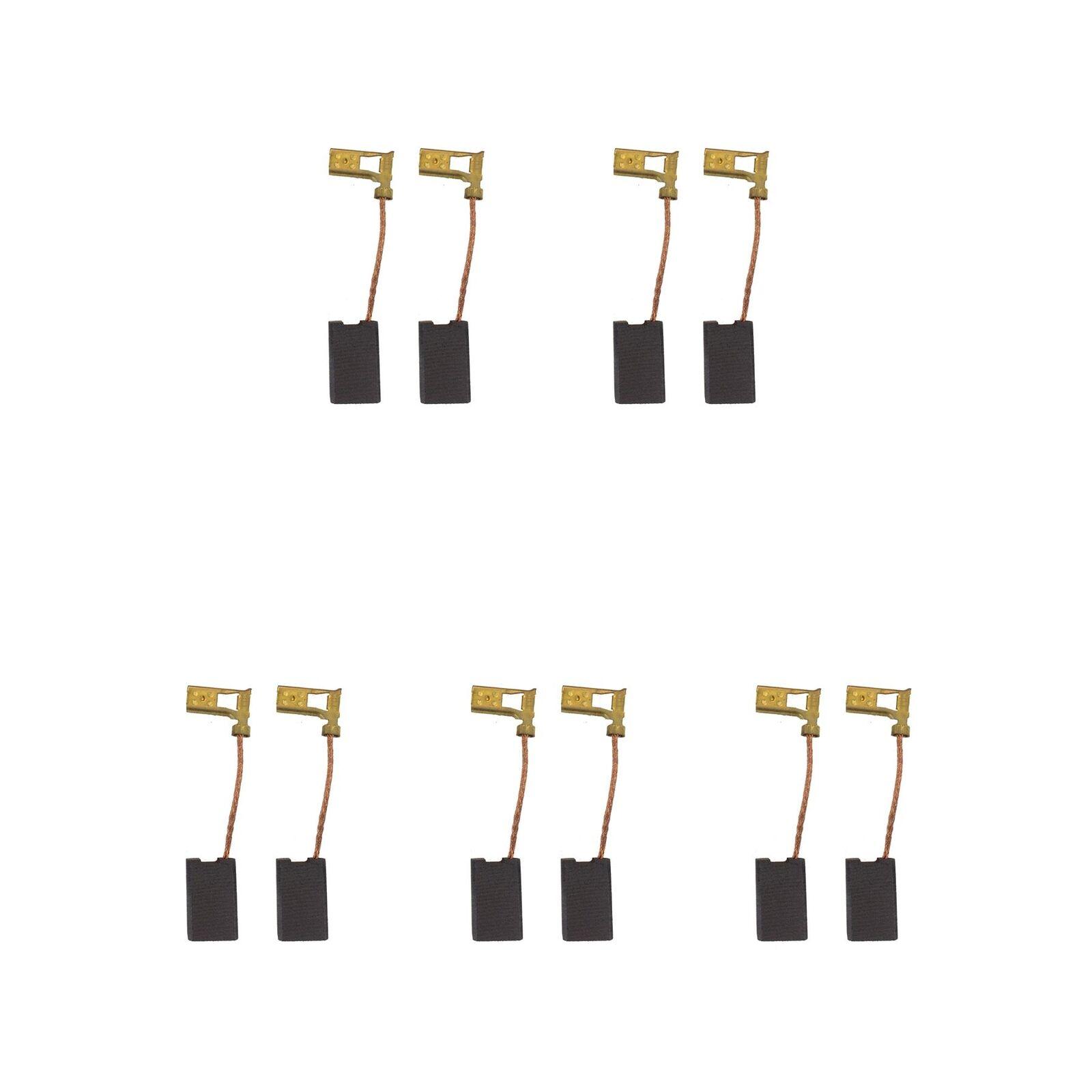 5 Sets of - 2x Carbon Brushes - Aeg A43 Mini Grinder (Größe - 6.3 X 10 X 16)