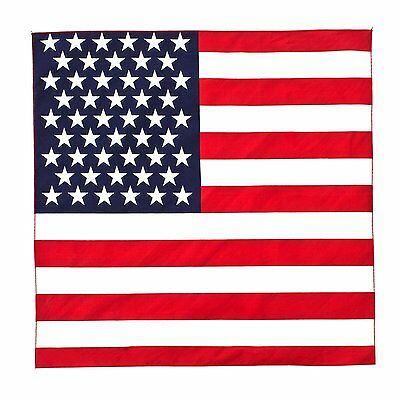 BlackC Sport Stars and Stripes 22x22 Military Cotton Biker Bandana US Flag
