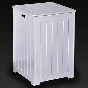 large square wooden laundry basket white bathroom bedroom. Black Bedroom Furniture Sets. Home Design Ideas