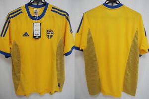 e24030a105d 2002-2003 Sweden Blagult Soccer Jersey Shirt Home Adidas FIFA World ...