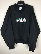 Vintage 90s Fila Spell Out  Classic Logo Pull Over Windbreaker Size XLarge