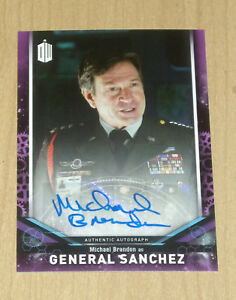2018 Topps Doctor Who Signature Michael Brandon as General Sanchez Autograph //25