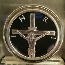 Crucifixion Jesus Christ on the cross 1 oz .999 silver shield Proof 2014 INRI