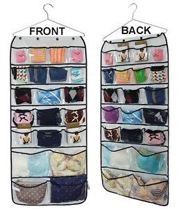 Closet Door Hanging Organizer Bra Underwear Socks Ties