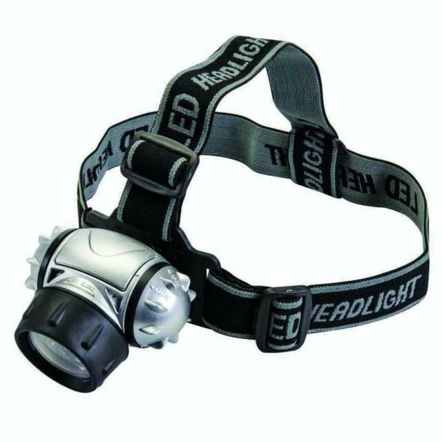 Silverline 12 LED Multi-Modo Faro Batería Cabeza Linterna - Resistente Al Agua