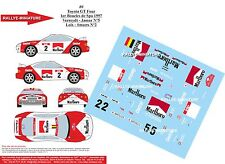 DECALS 1/43 REF 80 TOYOTA CELICA VERREYDT BOUCLES DE SPA 1997 RALLYE RALLY