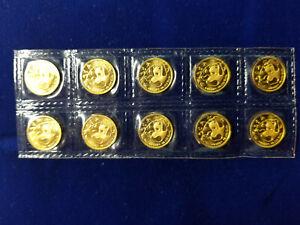 China 1985 Gold 1//20 oz Panda 5 Yuan Original Mint Sealed BU