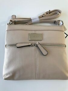 fd034d4639c7 Details about Nine West Encino Mini Crossbody in BEIGE, Brand New