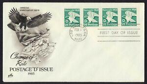 #2112 'D' Eagle-Strip De 4 , Art Craft FDC Cualquier 4=