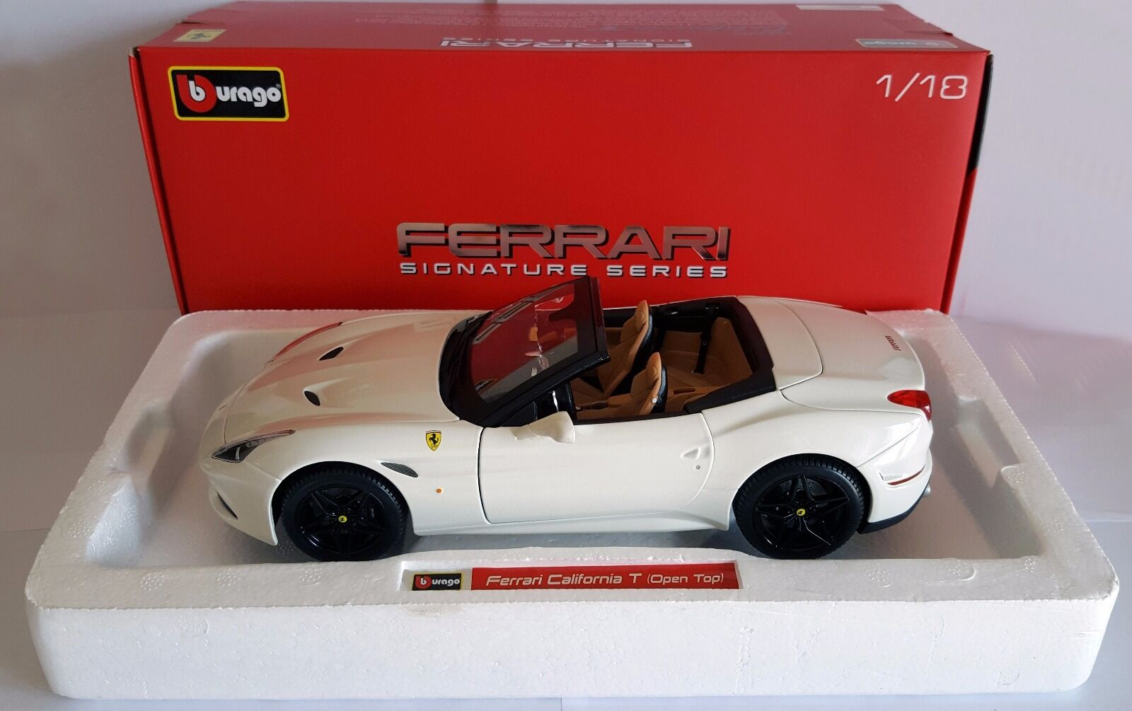 Bburago Ferrari California T 1 18 Signature no AUTOart MR BBR Kyosho Minichamps