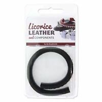 Licorice Leather Genuine Real Leather Cord 10 X 7mm With Crystals 25cm Black