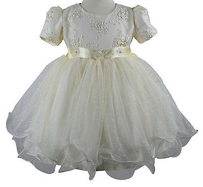 Inteligente Baby Girls 2 Piece Christening Wedding Special Occasion Dress In Vendita