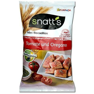 (9,78€/1kg) Snatts mediterraner Brotsnack, Brot-Chips, 30 Beutel je 35g