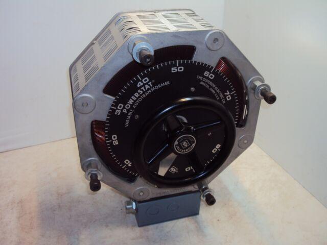 Superior Electric 216CU Powerstat Variable Transformer 240V 1 Phase 3.5A NOS