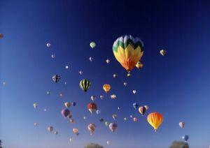 Canvas Hot Air Balloons Aloft Art print POSTER