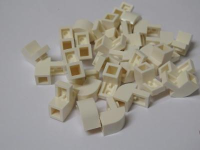 Lego 30 Pieces 1x2 White Curved Brick 6091 Star Wars//Harry Potter//Space