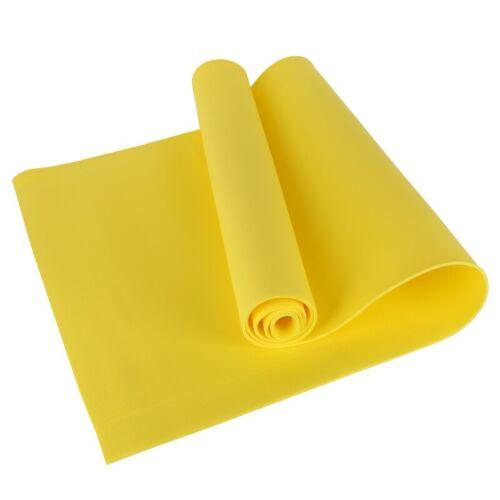 Yellow Yoga Mat EVA 4mm Thick Dampproof Anti-slip Anti-Tear Foldable Fitness Pad
