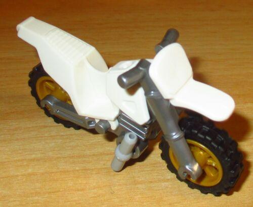 in Weiß Lego City 1x Cross Motorrad