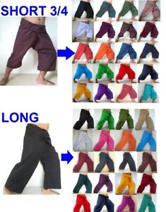Multicolor YOGA Thai Fisherman Pants Long Cotton Wrap For Men /& Women Free Size