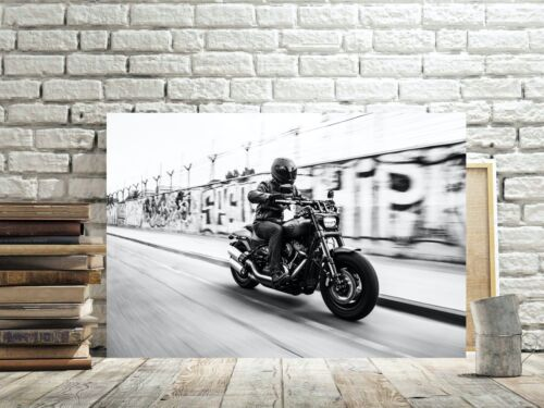 HARLEY DAVIDSON BIKER MOTORCYCLE CANVAS PICTURE #170 CANVAS MOTORBIKE PICTURES