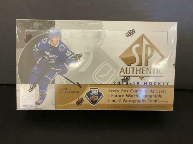2018-19 Upper Deck SP Authentic Hockey Factory Sealed Hobby Box