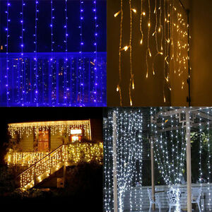 3mx3m 300 led outdoor indoor christmas wedding party fairy string image is loading 3mx3m 300 led outdoor indoor christmas wedding party aloadofball Choice Image