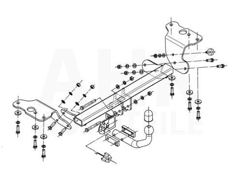 Für Toyota Auris I 3//5-Tür Fließheck Anhängerkupplung starr+ES 13p ABE