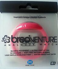 £ 1.49 BREO Neon Rosa Orologio di gomma + GRATIS Batteria Extra-Taglia M - 30,000+ F/RETRO