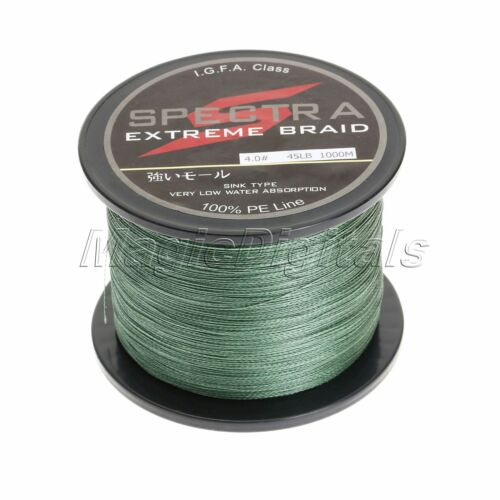 100-1000M Super Strong Green Dyneema Spectra Extreme Sea Braided Fishing Line