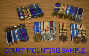 Details about 4 MINIATURE MEDALS - MINIATURE MEDAL SUPPLYING AND COURT  MOUNTING