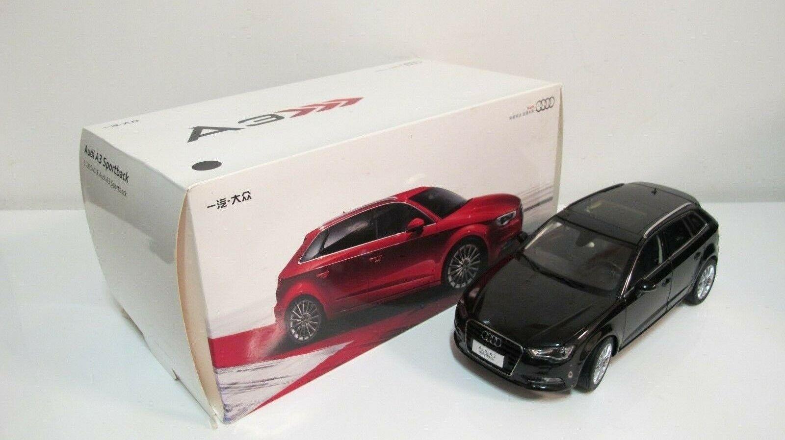 1 18 2012 AUDI A3 Sportsback nero caja de distribuidor DIECAST COCHES